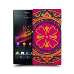 HEAD CASE FUCHSIA INDIAN MONOGRAMS HARD BACK CASE COVER FOR SONY XPERIA Z C6603
