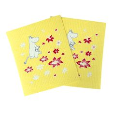 Moomin Yellow Flowers Dishcloth Set $9.00