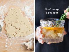 Cookies & Cocktails w/ @crateandbarrel holiday drinkware #CrateBarrelHoliday #sponsored