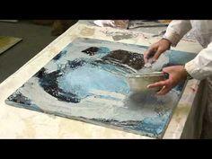Experimentelle Gemälde mit Echtrost und Patina von Künstlerin Oxana Aleksandrow - YouTube
