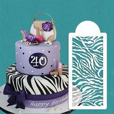Zebra Skin Cake stencil, Wall Stencil,beautiful stencil for cake decorating