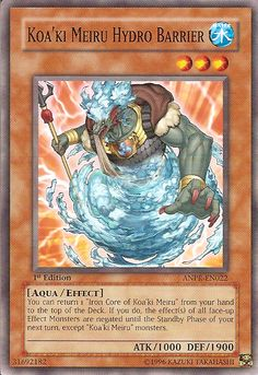 *Koa'ki Meiru Hydro Barrier (Common)   ANPR-EN022    *All cards are NOT brand new, but I've personally gone through all cards and have discarded any and all damaged cards. The cards I'm selling are in good-very good condition (i.e. scratches on back, wear around edges, smudges/marks).    *Cards c...