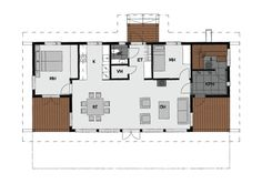 Sims 4 Houses, Small House Plans, Sweet Home, Floor Plans, Cottage, Windows, How To Plan, Architecture, Model