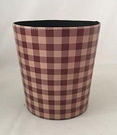 Pretty Pink Wastebasket Small Trash Can Pu Leather Bathrooom Waste Basket Basket Children Baby