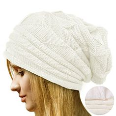 Koly® Women's Winter Crochet Hat Wool Knitted Beanie Warm Cap (Beige): Amazon.co.uk: Clothing