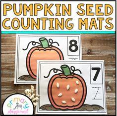 Pumpkin Seed Counting Mats 1 - 20