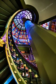 """""""Capitol Castle"""" Baton Rouge's Old State Capitol staircase and ceiling. #louisiana"""