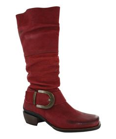 Take a look at this Red La Banda Boot - Women by Wolky on #zulily today!