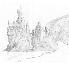 A sketch of Hogwarts castle - Pottermore