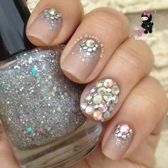 Glitter Bling Crystal Nails