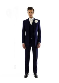 Marc Wallace navy suit