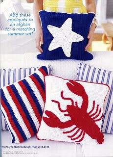 Pillows For Summer Crab Rug Also Patterns Free
