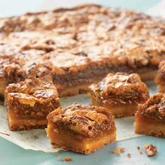 Pecan Pie Bars - Made with King Arthur Flour Shortbread Cookie Mix and pecan pie filling.