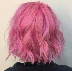 Bob penteados elegantes e cortes para meninas - Haar Ideen - Cabelo Dye My Hair, New Hair, Blonde With Pink, Coloured Hair, Grunge Hair, Mermaid Hair, Rainbow Hair, Pretty Hairstyles, Messy Hairstyles
