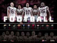 sports graphic design for 2012 EKU football poster