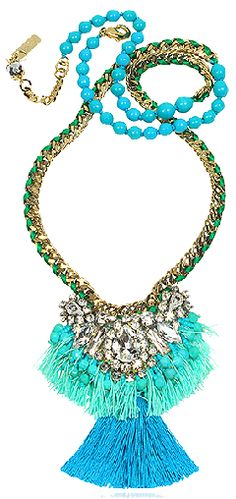 Fashion Rooftop aqua blue necklace