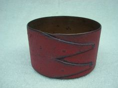OLD ANTIQUE SMALL RED COLOR PAINTED SHAKER PANTRY MEASURE BOX SQUARE NAIL CLIPS