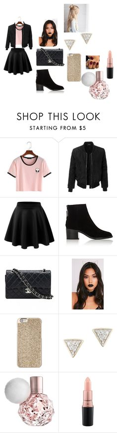 """Untitled #71"" by dangerousbri on Polyvore featuring LE3NO, rag & bone, Chanel, Michael Kors, Adina Reyter and MAC Cosmetics"