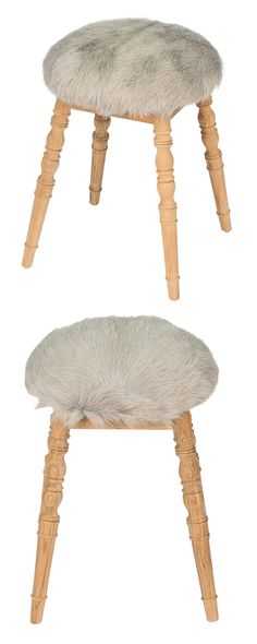 Add a bit of fluff to your interior design. Our Tess Stool is crafted with sturdy wood and topped with fluffy wool upholstery. Its neutral coloring increases its styling versatility.  Find the Tess Stool, as seen in the A Rustic Cottage Collection at http://dotandbo.com/collections/a-rustic-cottage?utm_source=pinterest&utm_medium=organic&db_sku=123033
