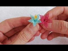 Seed Bead Tutorials, Beading Tutorials, Hand Embroidery Videos, Lace Making, Seed Beads, Tatting, 3 D, Make It Yourself, Crochet