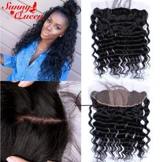Silk Base Lace Frontal 8A Malaysian Loose Wave Natural Hairline Lace Frontal Closure 13x4 Silk Top Lace Frontals With Baby Hair