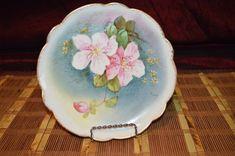 """Limoges France Porcelain Hand Painted Floral Decorative Signed Plate 8 1/2"""" #LimogesFrance"""