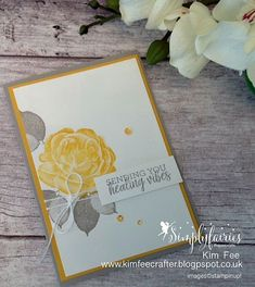 Simply Fairies Papercrafts : Healing Hugs Clean and Simple card and Video, Stampin' Up! Healing Hugs, Stamping Up Cards, Rubber Stamping, Sympathy Cards, Greeting Cards, Get Well Cards, Card Maker, Flower Cards, Cool Cards
