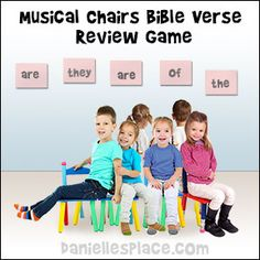 Bible Verse Review Games for Sunday school - Musical Chair Bible Verse Review Game from www.daniellesplace.com