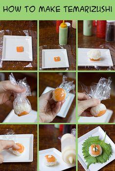 Para quem acha que enrolar sushi é muito difícil! ;)