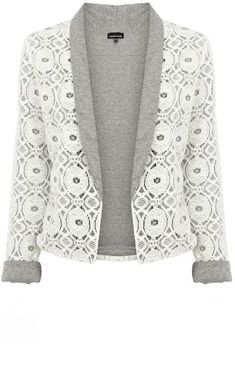 Warehouse Lace Jacket...I'm thinking this with a navy pencil skirt :)