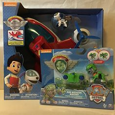 *The Air Patroller transforms from helicopter to plane mode for real Paw Patrol Rescue Missions! *The Air Patroller has real lights and sounds! Press the button on top of the Air Patroller's ha. Paw Patrol Gifts, Paw Patrol Rescue, Christmas Toys, Christmas 2016, Bookmark Ideas, Plane, Pup, Badge, Lights