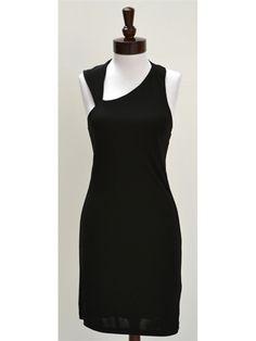 Halston Heritage Asymmetric Cutout Jersey Dress - NewChicBoutique.com