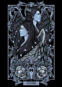 #Signos #Ilustração #Gêmeos #Gemini