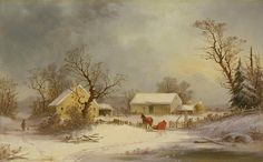 Winter-time On The Farm  George Henry Durrie