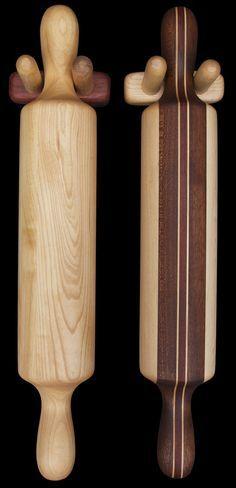 hardwood+creations   ... Wall Mountable Rolling Pin Holder - David Levy Hardwood Creations