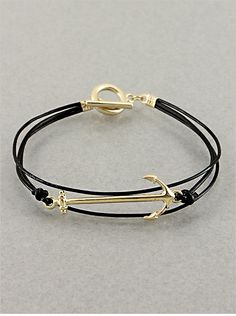 P.S. I Love You More Boutique | Anchor Woman Bracelet in Black | Online Store Powered by Storenvy