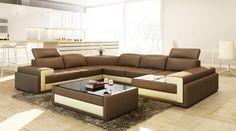 Divani Casa 5104 Modern Italian Leather Sectional Sofa 3 Seater: x x x x Seater: x x x x H Furniture, Italian Leather Sectional Sofa, Best Sofa, Modern Sofa Sectional, Living Room Sets, Sectional Sofas Living Room, Living Room Sofa Design, Sofa Design, Sofa Set Designs