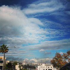 The beautiful  skies of Amman-Jordan after rainy days during November 2014.