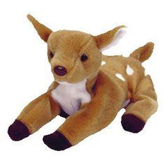 e1bc3bb39fe TY Beanie Baby - WHISPER the Deer (6.5 inch). BBToyStore.com - Toys ...