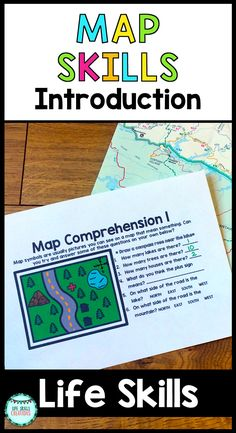 Wanting to teach your students functional reading and writing skills that can directly back into their real world? What could be better and more visually engaging than practicing with MAPS? Maps are a great way for students to learn about their surroundings and start building on their directional skills as well. With this unit, students will get an introduction to basic map skills with a primary focuse on using a compass rose and cardinal directions. $ Gr 2-12 | Life Skills | Special…