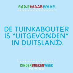 """Raar Maar Waar #23: De tuinkabouter is """"uitgevonden"""" in Duitsland. #Kinderboekenweek"""