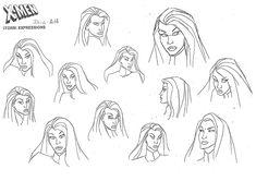 anime settei, , X-men, settei pre, settei sheet, model sheet