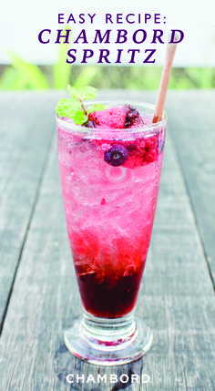 Grab your girlfriends and combine Chambord raspberry liqueur, dry white wine, and soda water to make this Easy Chambord Raspberry Spritz recipe. Brunch, pool-side party, whatever it may be, this cocktail is worth sipping on all summer long.