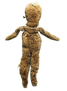 Rag doll, wool, papyrus, linen, glass, Egypt, c. 1 - 500 AD, Roman.