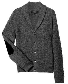 The elbow patch detail gives an update to an old classic cardigan. -via rag & bone, guest pinner for Land Rover USA