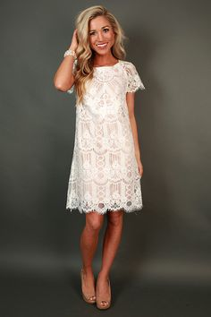 Vino & Lace Shift Dress