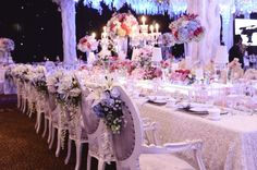 Glamorous decoration with flowers for your wedding chair idea | Project by Dawid Daud Decoration http://www.bridestory.com/dawid-daud-decoration/projects/wedding-decoration1432608932