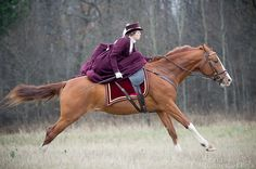 Side saddle gallop -