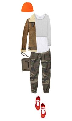 """""""How To Wear Camo Jogger Pants For A Comfy Chic Fall Weekend Style."""" by irishrose1 ❤ liked on Polyvore featuring TNA, American Eagle Outfitters, Splendid, New Balance and Alex Mill"""