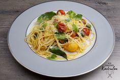 Mein wunderbarer Kochsalon Pasta, Spaghetti, Dinner, Ethnic Recipes, Food, Ideas, Breakfast Snacks, Tomatoes, Summer Recipes
